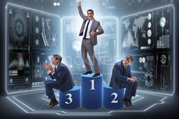 Empresário vitória primeiro lugar competição negócio trabalhar Foto stock © Elnur