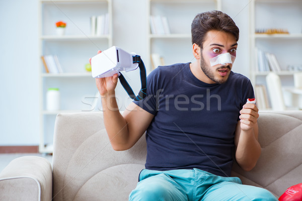 Young man defeated in sports game suffered loss with broken blee Stock photo © Elnur