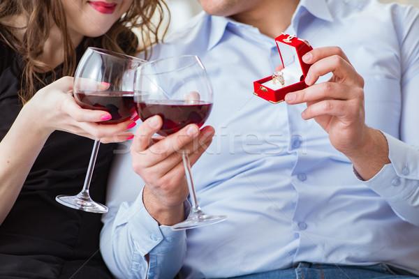 若い男 結婚 提案 ガールフレンド 女性 ストックフォト © Elnur