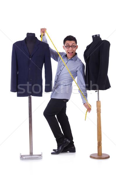 Engraçado masculino alfaiate branco menina trabalhar Foto stock © Elnur
