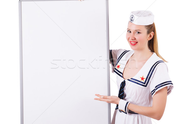 女性 船乗り ボード 白 セクシー 幸せ ストックフォト © Elnur