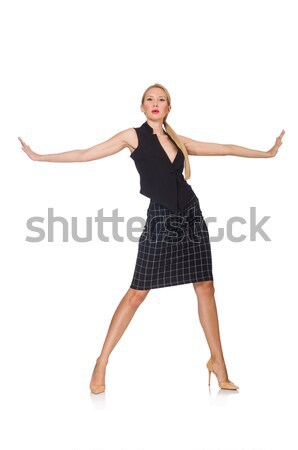 Woman dancing on the white Stock photo © Elnur