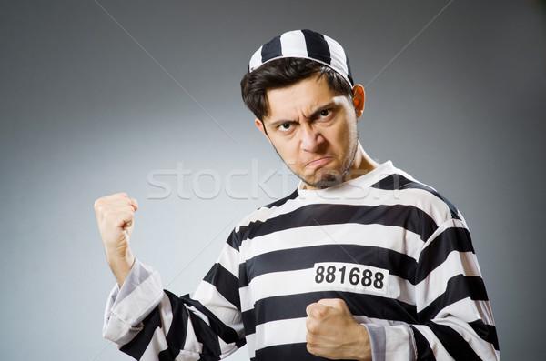 Funny prisión preso policía pelota libertad Foto stock © Elnur