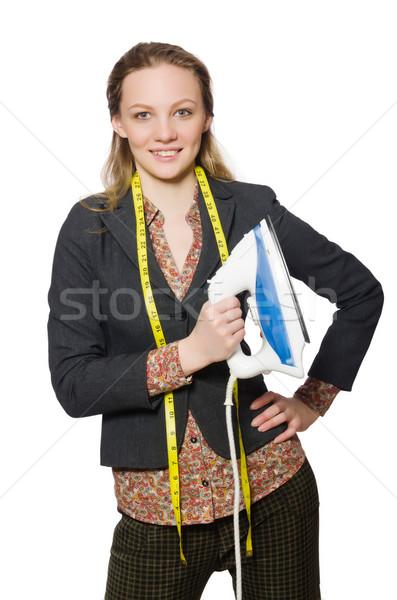 Nő szabó izolált fehér munka modell Stock fotó © Elnur