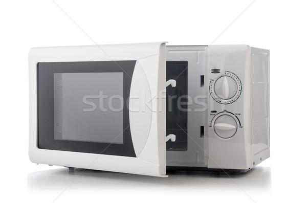 Magnetronoven oven tabel textuur ontwerp zwarte Stockfoto © Elnur