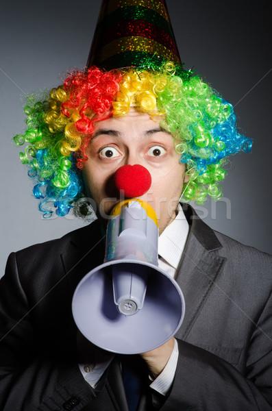 Clown głośnik funny szczęśliwy okulary Język Zdjęcia stock © Elnur