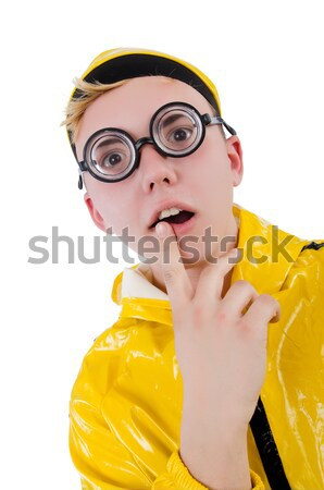 Man in yellow suit isolated on white Stock photo © Elnur
