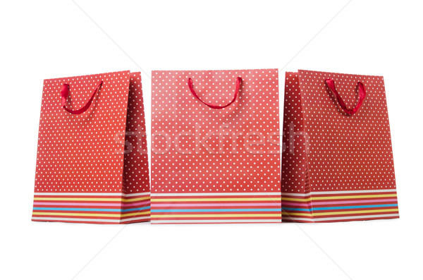 Gift bags isolated on the white background Stock photo © Elnur