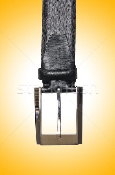 Masculina elegante cinturón aislado blanco moda Foto stock © Elnur
