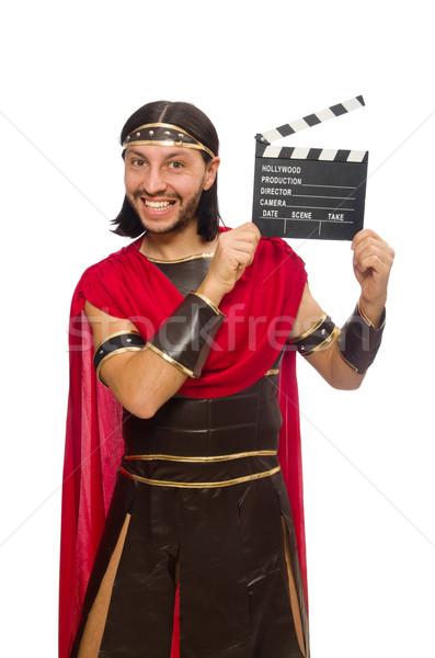 Gladiator geïsoleerd witte man achtergrond bioscoop Stockfoto © Elnur