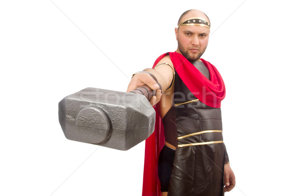 Gladiator with hammer isolated on white Stock photo © Elnur