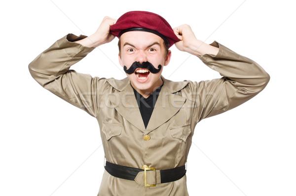 смешные солдата военных человека фон войны Сток-фото © Elnur