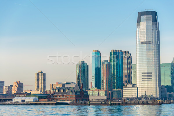 Skyline of Jersey City on bright summer day Stock photo © Elnur