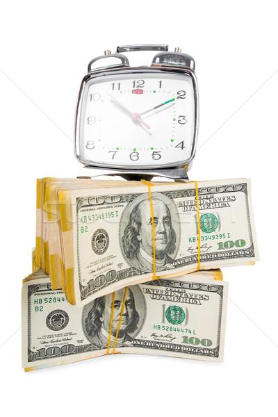 Время-деньги часы долларов Смотреть наличных финансовых Сток-фото © Elnur