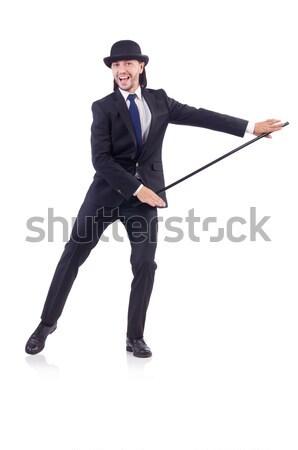 Сток-фото: молодые · бизнесмен · портфель · изолированный · белый