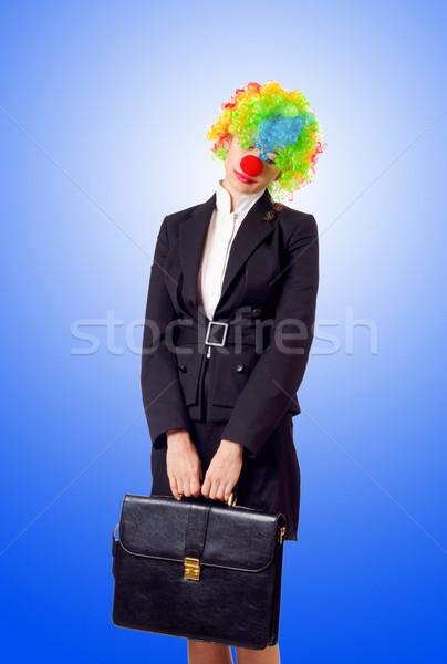 Donna clown business suit party lavoro Foto d'archivio © Elnur