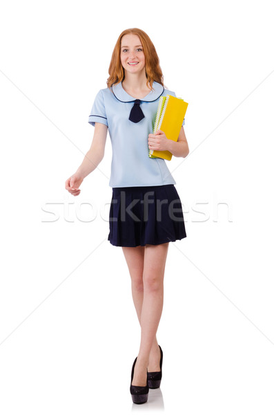 Young diligent student  isolated on white Stock photo © Elnur