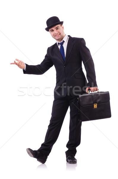 Funny businessman isolated on white Stock photo © Elnur