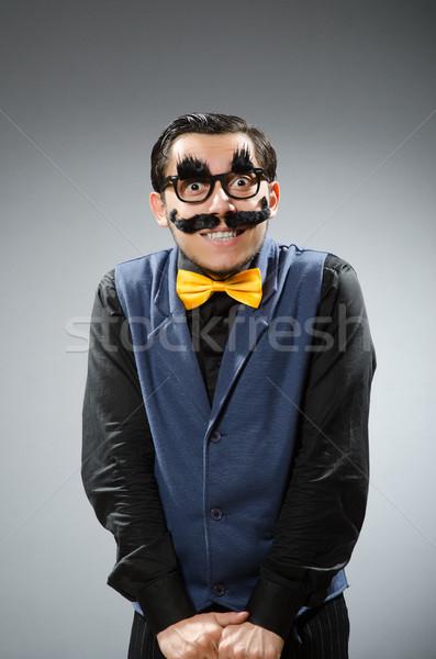 Funny hombre oscuro trabajo empresario traje Foto stock © Elnur
