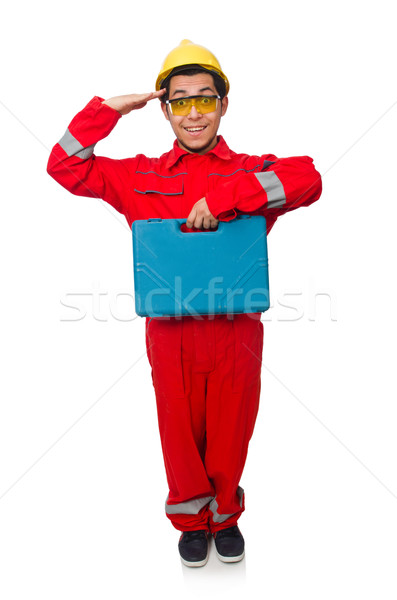 Man in coveralls isolated on white Stock photo © Elnur