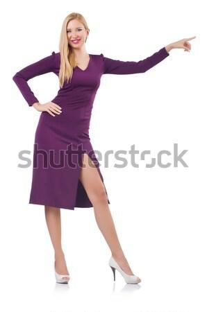 Blond cheveux modèle gris jupe Photo stock © Elnur