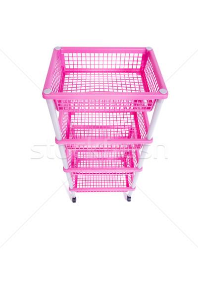 Rosa rack plataforma ruedas aislado Foto stock © Elnur