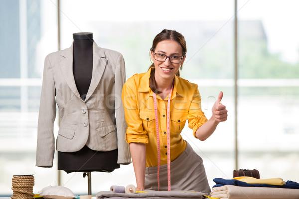 女性 テーラー 作業 新しい 服 ファッション ストックフォト © Elnur