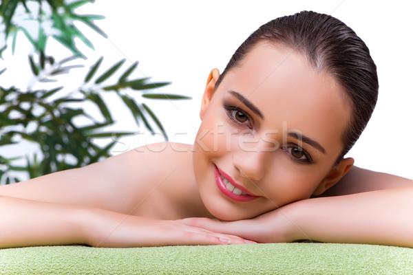 Young woman enjoying spa treatment Stock photo © Elnur