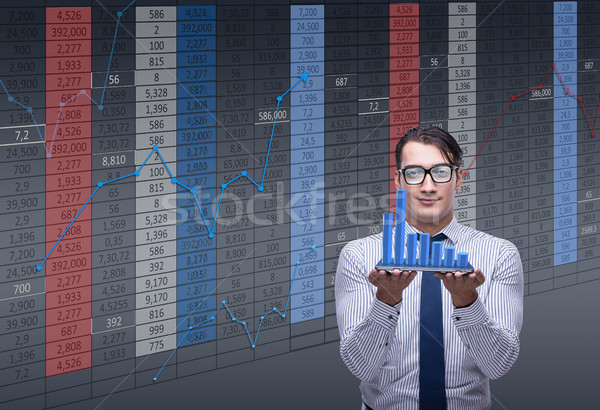 Businessman trader in stock exchange concept Stock photo © Elnur