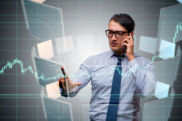 Young trader talking on the phone Stock photo © Elnur