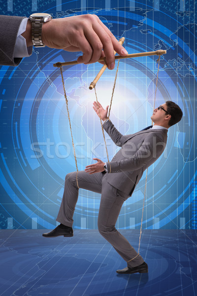 Businessman puppet being manipulated by boss Stock photo © Elnur