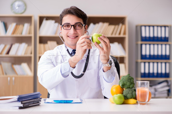 The doctor in gmo food concept Stock photo © Elnur