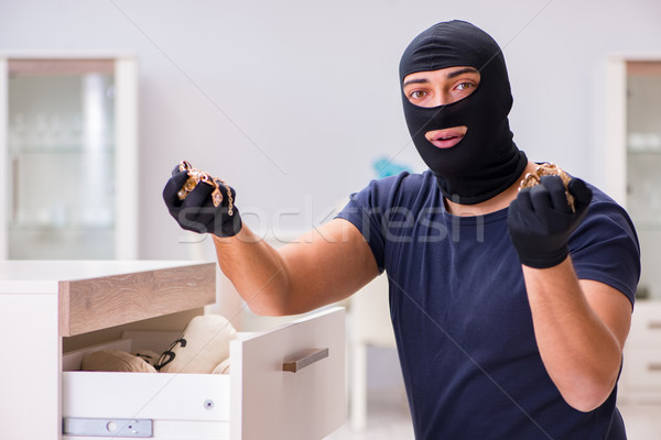 The robber wearing balaclava stealing valuable things Stock photo © Elnur