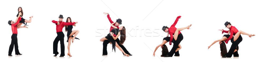 Pár táncosok izolált fehér zene férfi Stock fotó © Elnur