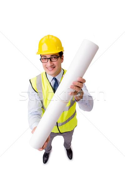 Stok fotoğraf: Inşaat · yönetici · yalıtılmış · beyaz · iş · Bina