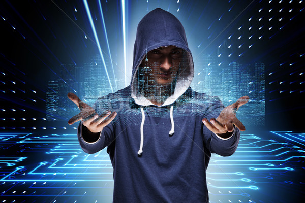 The young hacker in cyber security concept Stock photo © Elnur