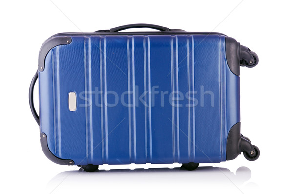 Travel suitcase isolated on white Stock photo © Elnur