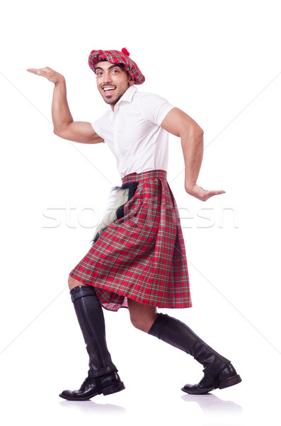 Scottish man dancing on white Stock photo © Elnur