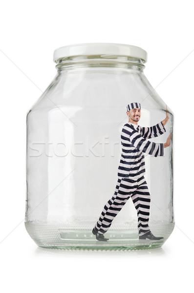 Zdjęcia stock: Szkła · pusty · jar · odizolowany · biały · prawa