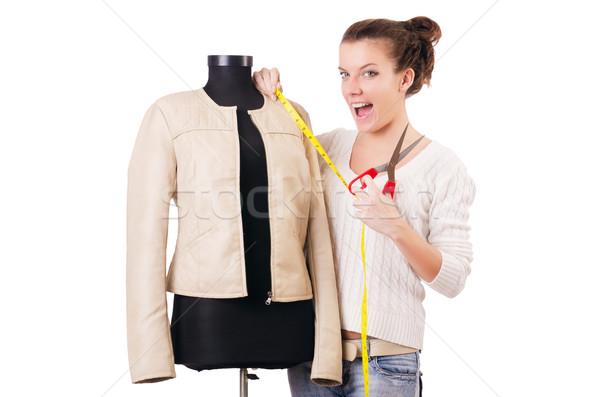Mulher alfaiate trabalhando vestir moda trabalhar Foto stock © Elnur