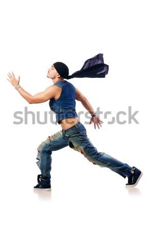 Dançarina dança branco homem moda modelo Foto stock © Elnur