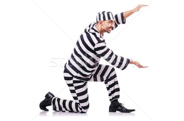 Criminal a rayas uniforme ley policía Foto stock © Elnur