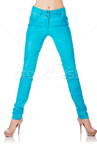 Woman legs in blue trousers Stock photo © Elnur
