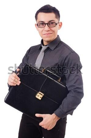 ビジネスマン ダイナマイト 孤立した 白 ビジネス 背景 ストックフォト © Elnur