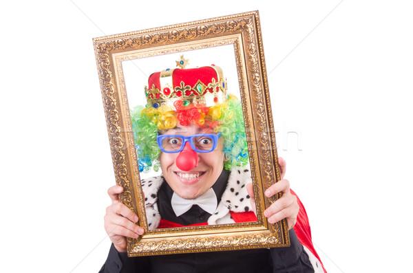 Biznesmen korony odizolowany biały strony garnitur Zdjęcia stock © Elnur