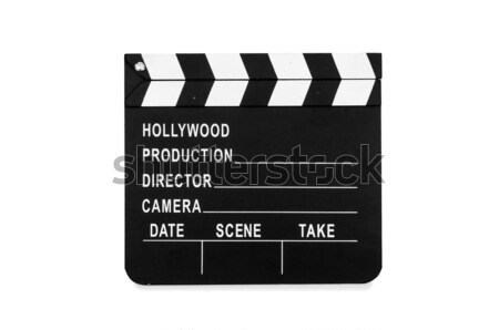 Movie clapper board isolated on white Stock photo © Elnur