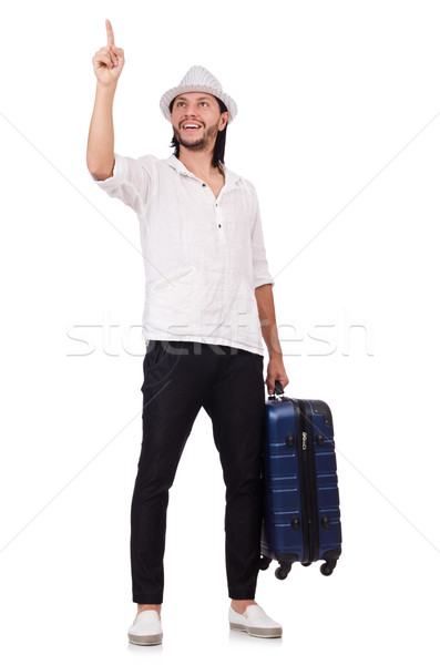 旅行 休暇 荷物 白 幸せ ファッション ストックフォト © Elnur