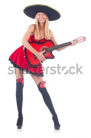 Nő ördög fehér mosoly szexi boldog Stock fotó © Elnur