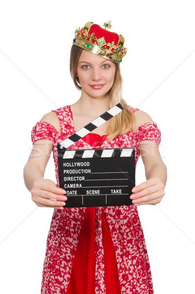 Mulher coroa filme conselho trabalhar fundo Foto stock © Elnur