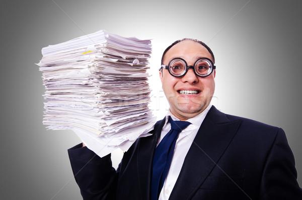 Foto stock: Engraçado · homem · branco · negócio · escritório